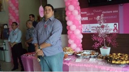 O diretor executivo da Astir, CB PM Alan Mota na manhã desta terça-feira (1), deu início a campanha outubro rosa...