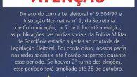 Fonte: http://www.pm.ro.gov.br/ Republicação: Jornalista Wilson Souza